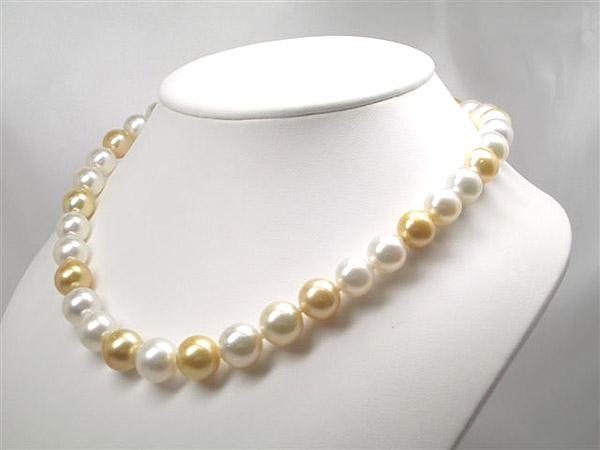 K14WGシロチョウ・シロチョウ (ゴールド)真珠ネックレス   ギフト プレゼント