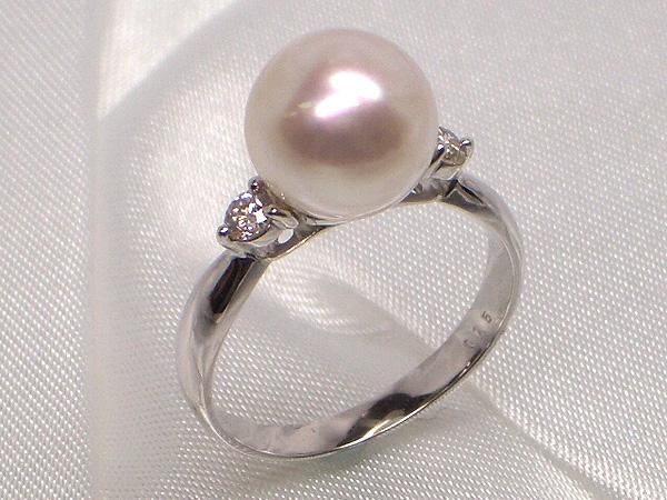 完全数量限定!最高級の花珠真珠で、一生ものリングを作りました!Pt最高級アコヤ真珠ダイヤ入りリング限定品(花珠鑑別書付き)Bダイヤ0.15ct   ギフト プレゼント