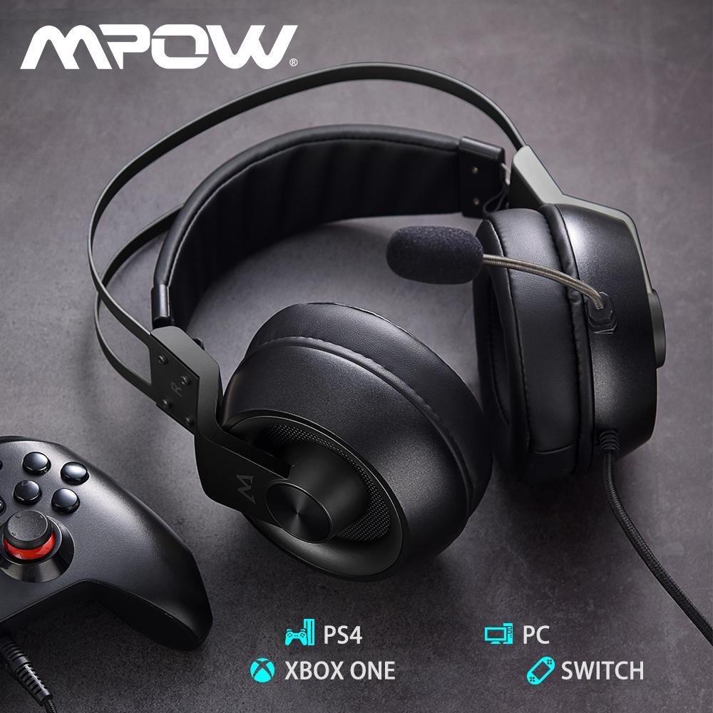 臨場感溢れる かっこういい Mpow 返品送料無料 EG3 Pro ゲーミングヘッドホン ヘッドホン ゲーミング マーケット ヘッドセット マイク付き ノイズキャンセリング ゲーム用 子供用 プレゼント 学習 Switch 任天堂 Xbox ps4対応可能 PC 有線 仕事用 LEDライト 大人用 高音質