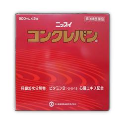 【第3類医薬品】【送料無料の2個セット】【日水製薬】コンクレバン 500mL×3本入り