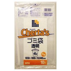 日本サニパック チェルタス 45L 特厚 [正規販売店] 透明 お取り寄せ商品 激安通販専門店 10枚入 H-58