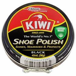 なんと シューケア製品のトップブランドあの KIWI 特価 キィウイ 缶入油性靴クリーム 中缶 黒 が ※お取り寄せ商品 45ml ? セール特価 この価格 KW