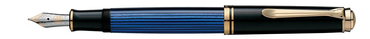 【毎日ポイント10倍!】【ペリカン★正規輸入品】スーベレーン M600 万年筆 ブルー B(太字) [保証書付き] ※お取り寄せ商品