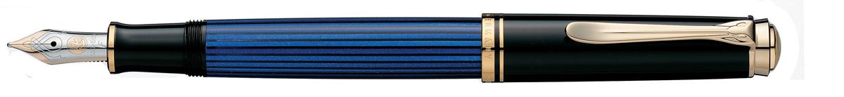 【毎日ポイント10倍!】【ペリカン★正規輸入品】スーベレーン M400 万年筆 ブルー EF(極細字) [保証書付き] ※お取り寄せ商品