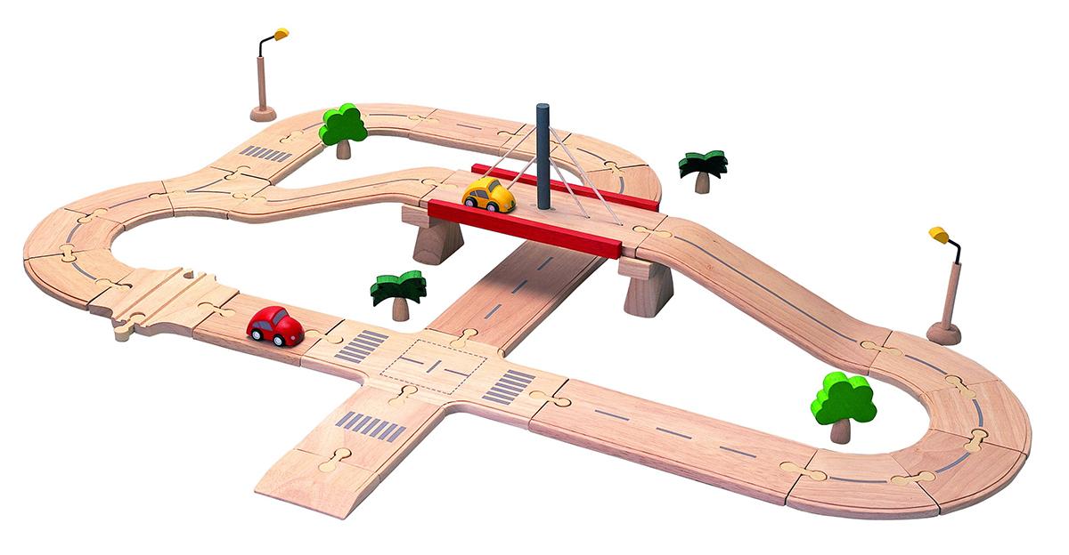 6078 ロードシステムデラックス PLAN TOYS プラントイ 知育玩具 木製 木のおもちゃ 出産祝い 誕生日 赤ちゃん 子供