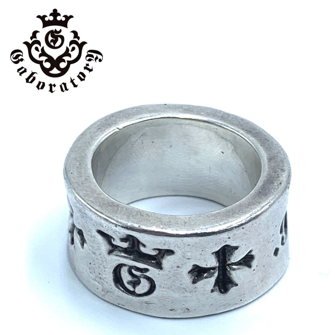 Gaboratory/ガボラトリー リングWide G&Crown Gothic Cigar Band Ring
