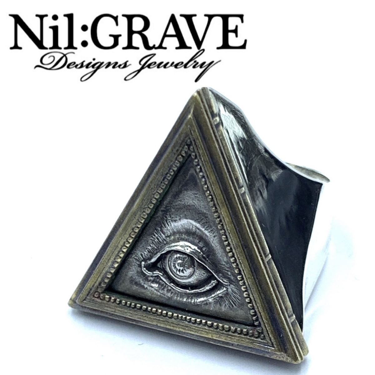 Nil:GRAVE Designs Jewelry/ニルグレイヴ デザインズジュエリー三角トリロジーリング2