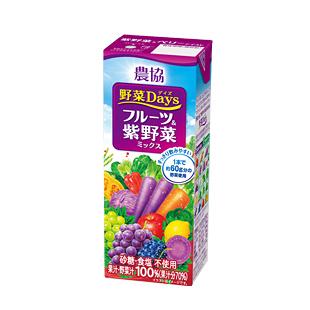 農協Days【フルーツ&紫野菜ミックス】200ml×18本入★【常温保存可能】