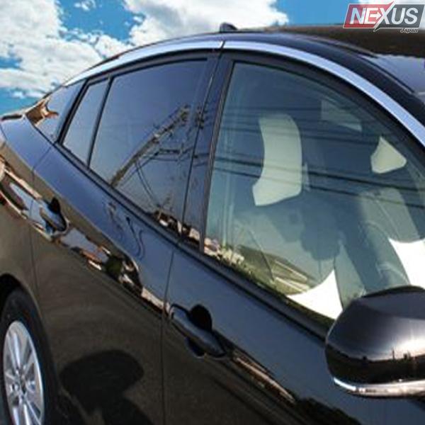 新型 プリウス52系 PHV メッキ サイド ウィンドウ トリム 4P ステンレス パーツ ドレスアップ カスタム アクセサリー