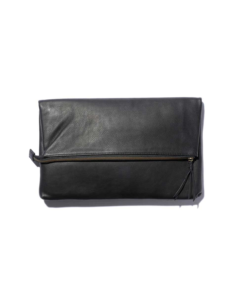 【 MR.OLIVE(ミスターオリーブ)】【 公式サイト 】【 MROLIVE 】【 E.O.I 】WATER PROOF WASHABLE LEATHER 2WAY ZIPTOP CLUTCH BAG レザーバック 牛革 クラッチバック 日本製