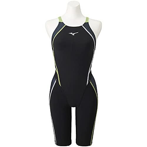 MIZUNO(ミズノ) スイム 水泳 競泳 レース 競技用 ガールズ FX・SONIC Prism ハーフスーツ N2MG1430 90:ブラック×キャスチャコール サイズ:120