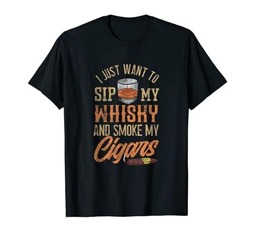 高品質 メンズ ウイスキーとシガー ●手数料無料!! Tシャツ