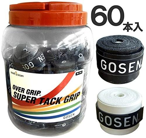 【商品コード:13025191472】 ゴーセン(GOSEN) テニス グリップテープ スーパータックグリップ(60本入) ホワイト OG106BXWH