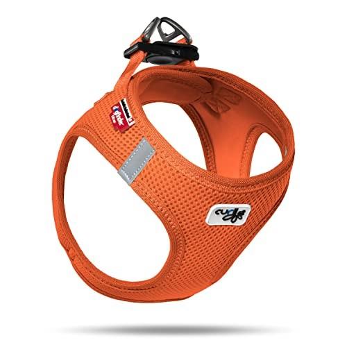 curli スピード対応 全国送料無料 カーリー ベストエアメッシュハーネス 流行 サイズ オレンジ L