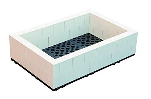 システムファーム 組立て式花壇 菜園 アイボリー 店舗 60cm×90cm×2段 セット 特価キャンペーン