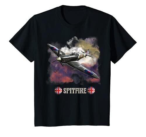 公式サイト キッズ 第二次世界大戦イギリスの航空機スーパーマリンスピットファイア戦闘機 Tシャツ 全国どこでも送料無料