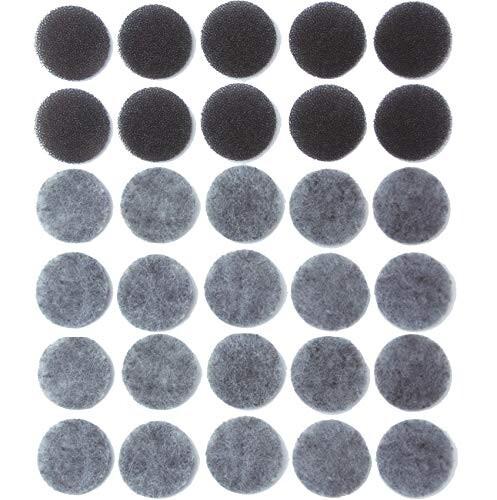 大人気 アーランド バスポンプ用 備長炭 毎日がバーゲンセール ゴミ取りフィルター スポンジフィルター10枚+交換用フィルター20枚 G-26-10 2 20回分