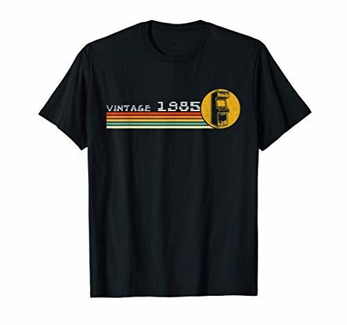 1985 ハイクオリティ Video 日時指定 Game Vintage Retro Tシャツ Trained 80s Arcade Classically