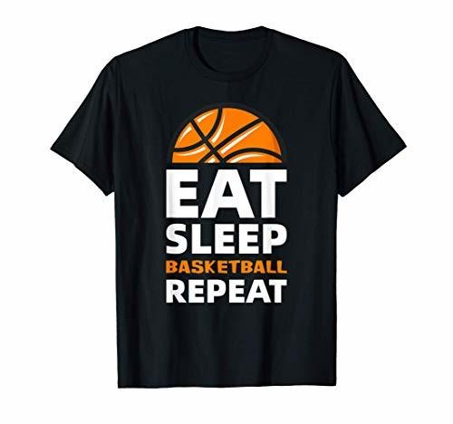 Eat. Sleep. Basketball. Repeat. Funny Basketball Gifts Retro Tシャツ