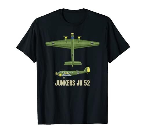 ユンカースJu52 ドイツ WW2輸送機 予約 機体図 Tシャツ 再再販