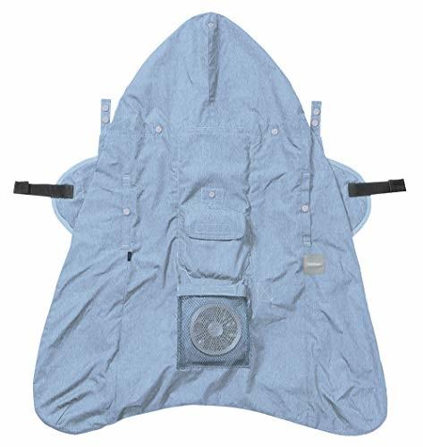【送料無料】BABYHOPPER 空調抱っこひもカバー ファン内蔵 暑さ対策 夏のお出かけ 涼しさ持続 ブルー 5か月~ CKBH06002