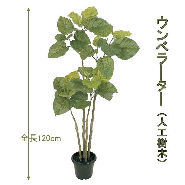 ウンベラ―タ 120cm 人工樹木 人工観葉植物 造花 インテリアグリーン 5228 玄関やリビングのインテリアに【送料無料】 GR_0004
