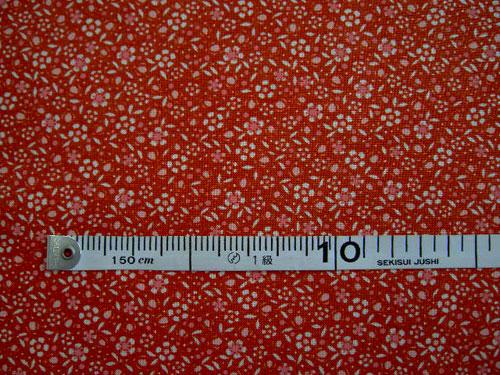 超激得SALE ☆ パッチワーク生地 買取 USA 赤地ベースの花柄プリント COTTON moda社