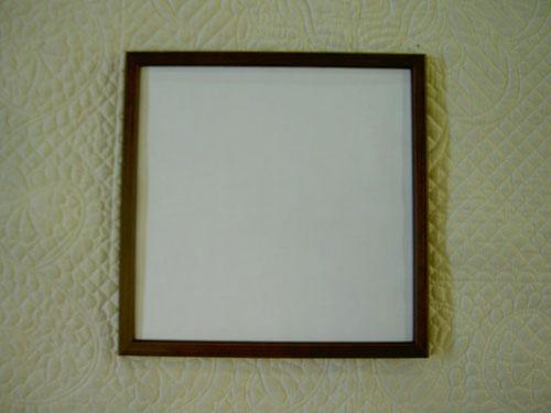 数量限定アウトレット最安価格 いつでも送料無料 パッチワーク用額小さなキルトを飾るのにかわいい木製の額です25×25cmサイズ