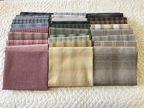 パッチワーク カットクロスセットおトクです♪わくわく布の福袋先染めチェック30枚カットクロスセット