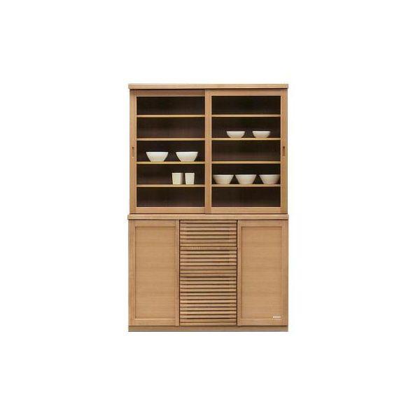 食器棚 120 キッチンボード ダイニングボード キッチン収納 キャビネット カップボード 木製 国産 完成品 ナチュラル