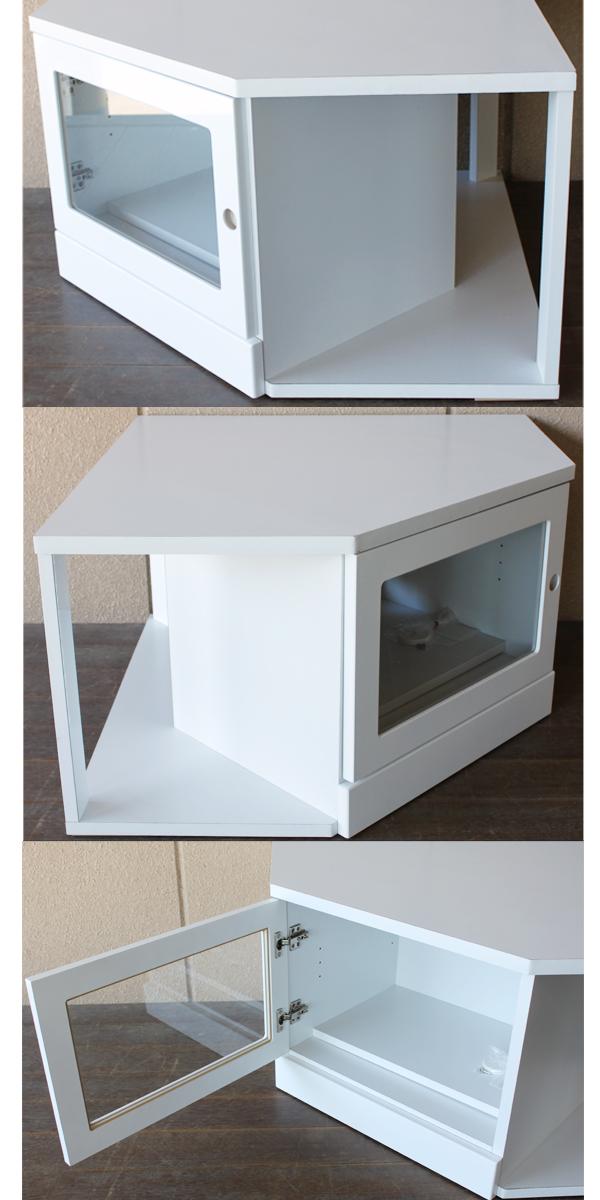 Ms-1: Corner TV Stand 3-piece Set TV Units Lowboard Snack