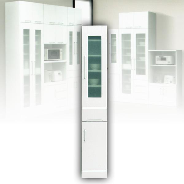 食器棚 スリムボード 30 隙間収納 ホワイト すき間収納 白 スリム収納 完成品 水屋 【送料無料】