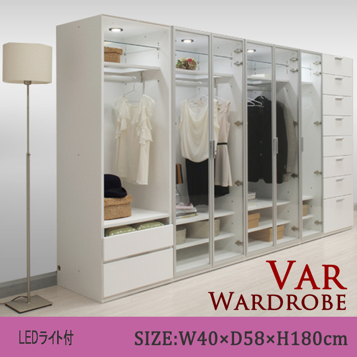 Hanging clothes gap storage closet domestic glass door clothes hanging width 40 glass door gap chest ... & ms-1 | Rakuten Global Market: Hanging clothes gap storage closet ...