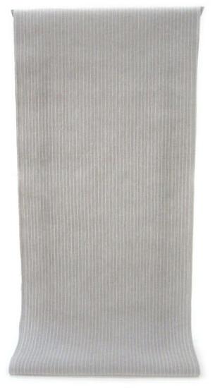 ◇ ◇ ◇ 男性用 紳士用 メンズ ◇ ◇ ◇先染め糸の綿麻ちぢみ織り   横糸に麻を使った薄灰色の白縞柄(反物)◇ お仕立て(国内手縫い)¥11,000(税別)で承ります。