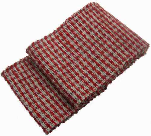 正絹手織り裂き織半幅帯(赤千鳥)