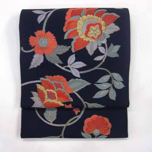 :::伝統的工芸品:::西陣織正絹本袋帯(蔓華) 《未仕立て品・仕立て付き》