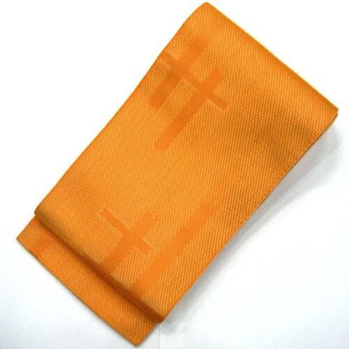 ◇特別奉仕品◇ポリエステル 紋織 鹿の子に絣柄 半幅帯(小袋帯)