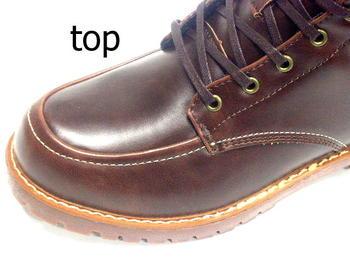 布拉恰诺防水设计布拉恰诺靴子休闲鞋男鞋靴子花边花边帽插入暗棕色黑色