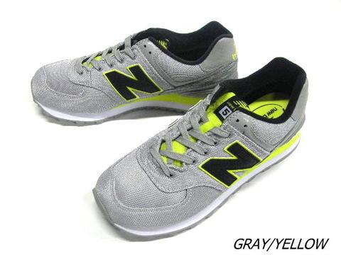 2016 春夏新新平衡日本真正新的平衡 ML574SIC 灰色黃色的運動鞋男裝男式 574 SIC 新平衡 D 明智麂皮絨網運行風格經典點 10 倍
