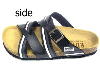 EDWIN Edwin shoes mens shoes black white black comfort Sandals 26 cm 27 cm 28 cm