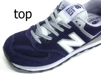 In 2016, autumn winter new new balance Japan genuine new balance ML574VIC Dark  Navy sneakers mens 574 VIC new balance D wise suede running style classic.