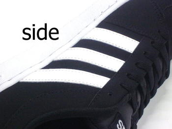 ms shoe: Synthetic leather black for the latest Adidas