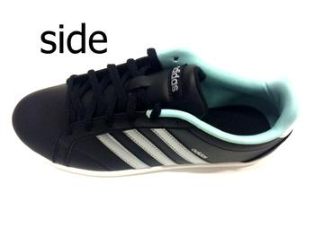 Low-frequency cut coat shoes black silver for the new work Adidas domestic  regular article adidas coneo qt Adidas Coe neo-QT shoes Lady's shoes
