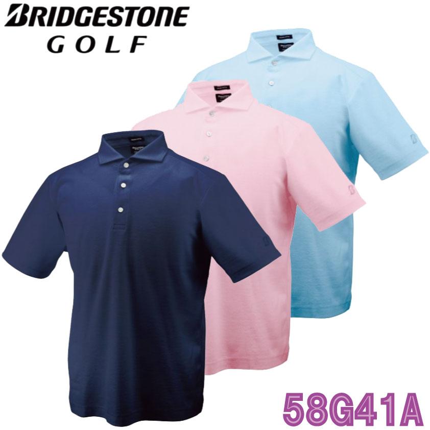 ブリヂストン BRIDGESTONE メンズ プレミアム半袖シャツ 58G41A