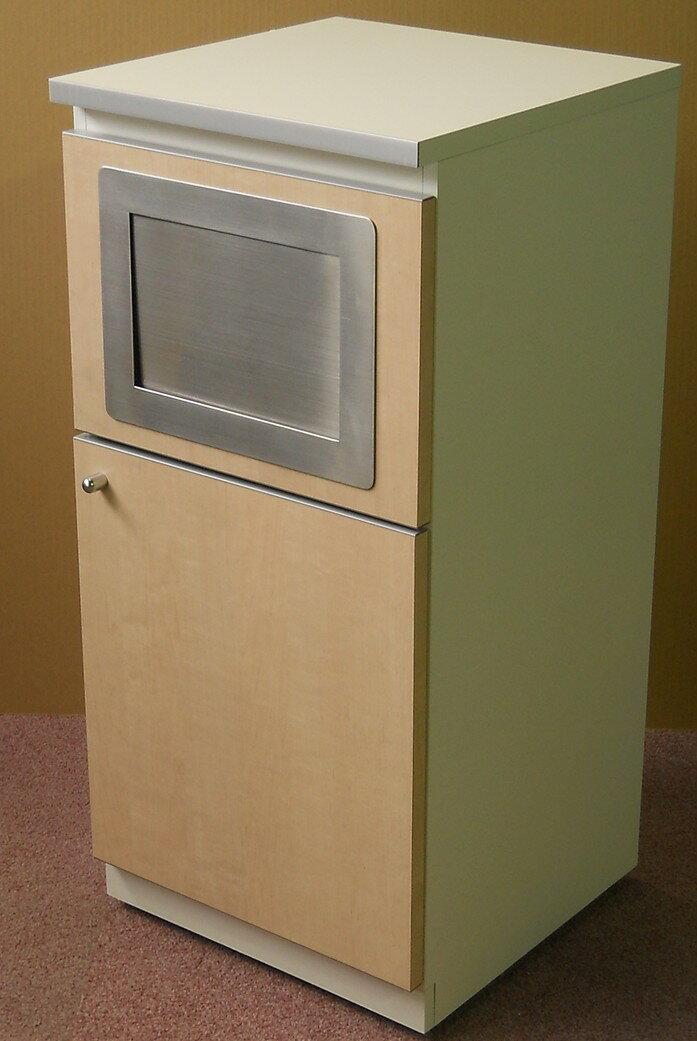訳あり アウトレット(未使用品)ゴミ箱(木製ビジネスキッチンシリーズ)W402,D411,H850ミリ 【送料無料】【天板角にキズあり】