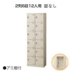 日本製・完成品 SLBシューズボックス・下駄箱 (扉付・鍵なし) 2列6段12人用 W600×D350×H1800ミリ SLB-212-K2 【送料無料】