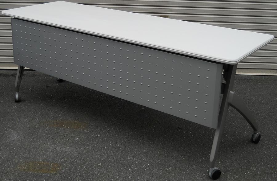 わけあり アウトレット(訳あり)サイドスタックテーブルSH-1860M型 天板:ピュアホワイト色【送料無料】