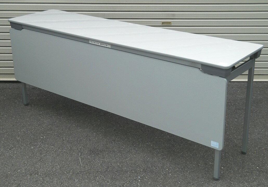 わけあり アウトレット(訳あり)折りたたみテーブルLH-1845M型 天板:ペールグレイ色【送料無料】