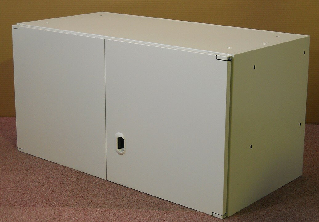 わけあり アウトレット(訳あり)スチール両開き書庫 上置き用W900,D450,H460ミリ 【送料無料】