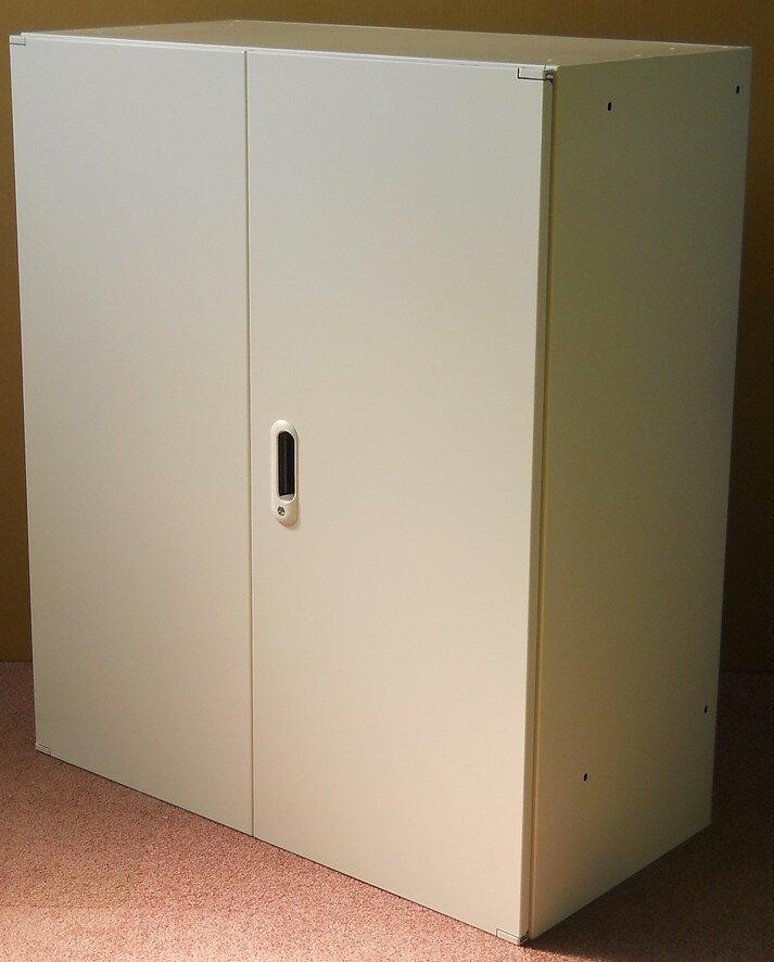 アウトレット プラス 両開き書庫D=450ミリA4ファイル3段収納 ホワイト色【送料無料】